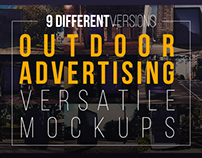 Outdoor Ad Billboard - 9 Mockups