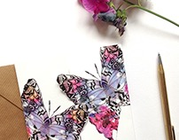 Birthday Butterfly Summery Kiss Cards