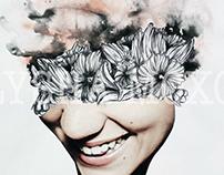 Collage, Watercolours, Biro