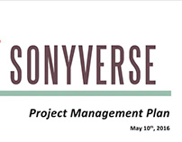 """Creative Project Management Plan for """"Sonyverse"""""""