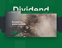 Dividend   Landing page