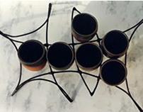 tazas de vino