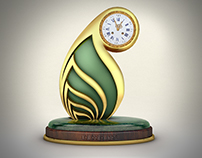 AWQAF TROPHY CLOCK DESIGN -DOHA-QATAR