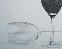 Efecto vidrio con grafito.