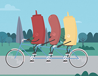 Bicycle Built for Three Animation
