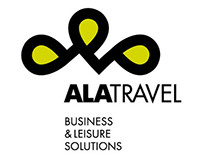 Ala Travel logo and stationary