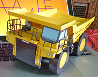 Paper Model of 'Komatsu HD785 Dump Truck'