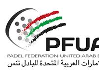 Logotipo Federación de pádel de los Emiratos Árabes