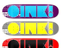 IKL Bold Font for Oink! Co. Skateboards