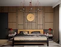 Guest Contemporary Bedroom - Киев, ЖК Женева