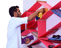 Furniture Design: Collapsable shelf