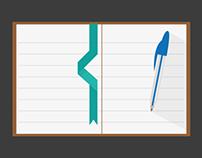 Stationery Elements {Flat Icons}
