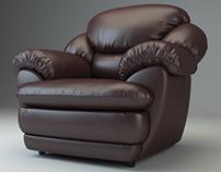 "Armchair ""Osvald"". Creating 3D model."