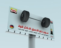 Pattex Out Door Banner 3d Render