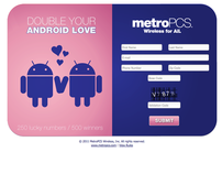 MetroPCS Double your Android Love V- day promotion NYC