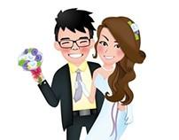 Eunice :: Wedding Character :: Wai Kin & Mei Wan