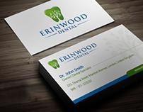 Business Card for Erinwood Dental