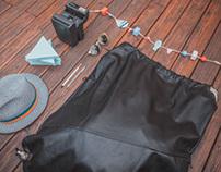 XL LEATHER BEACH BAG