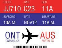Boarding Pass Design (2013)
