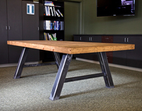 Distressed and Reclaimed Conference Table