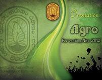 Invitation Card for Agro Harvesting Nite