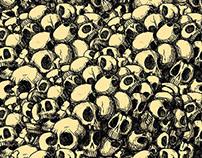 Diseño de Carteles de día de Muertos