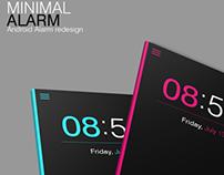 Minimal Alarm - Android Alarm Redesign
