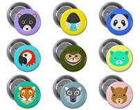 Animals badges
