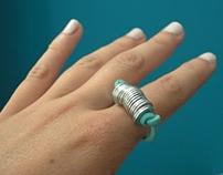 metal discs ring and bracelet