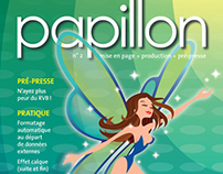 'papillon' – InDesign-only printed magazine (2003)