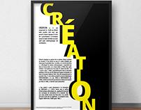 """Affiche A2 - """"Création"""""""