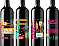 Foxeys Hangout Wine Label