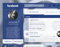 [.psd] Facebook Music player