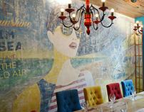Эскиз и роспись стен в VIP зале ресторана