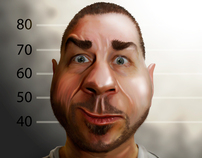 Digital caricature drawings