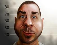 Digital caricature drawings