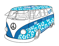 STA Travel Kombi Decal