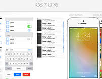 Free download iOS 7 UI Kit with layered PSD