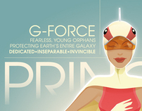 Battle of the Planets – Princess A3 Print