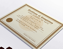 Completion Certificate Design