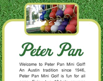 Peter Pan Mini Golf website