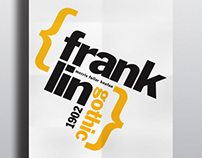 Franklin Gothic Typography Poster