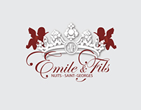 Branding & Print Design for Emile&Fils - Wine Sellers