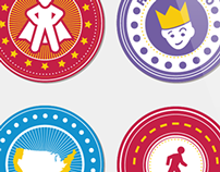 Denny's 50 State Challenge Icons