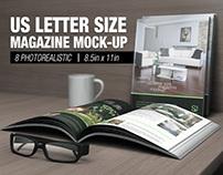 US Letter Size Magazine Mock-up