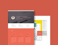 Single Page Portfolio Website