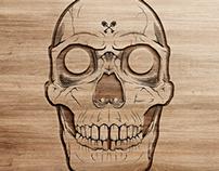 Laser Skull Engraves