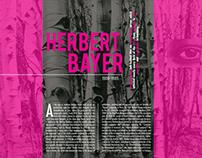 Herbert Bayer Magazine Spread  (project)