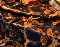 Judith Pattern Digital Textile Printing Scarf