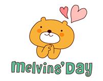 LINE Camera Sticker _Melvin's Day